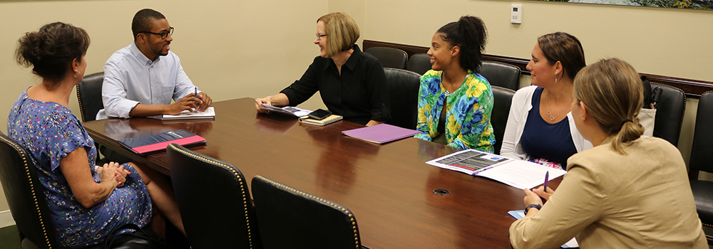 MSN students meet with a representative