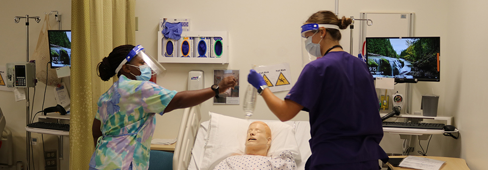 BSN students participate in a simulation lab